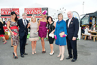 Judges and sponsors : Mandy Maher Catwalk Models, PJ Gibbons, Audrey Kinehan, Rosanna Davison, Patrician McCrossan Galway Now and Bairbre Power judges in  the Anthony Ryan's Best Dressed ladies day and Anthony Ryan himself at the Galway Races . Photo:Andrew Downes.Photo issued with Compliments, No reproduction fee on first use