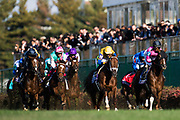 Longines Breeders' Cup Turf (Race 10) (Turf) <br /> November 3, 2018: Enable #2, ridden by Frankie Dettori, wins the Longines Breeders' Cup Turf on Breeders' Cup World Championship Saturday at Churchill Downs on November 3, 2018 in Louisville, Kentucky.
