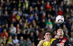 17.03.2011, El Madrigal, Villarreal, ESP, UEFA EL, FC Villarreal vs Bayer 04 Leverkusen, im Bild Villareal's Gonzalo Rodriguez (l) and Bayer 04 Leverkusen's Sidney Sam during UEFA Europa League match.March 17,2011. . EXPA Pictures © 2011, PhotoCredit: EXPA/ Alterphotos/ Acero +++++ ATTENTION - OUT OF SPAIN / ESP +++++