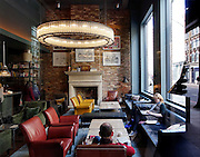 London, Shoreditch. hotel hall