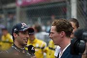 May 25, 2014: Monaco Grand Prix: Daniel Ricciardo (AUS), Red Bull-Renault and Benedict Cumberbatch