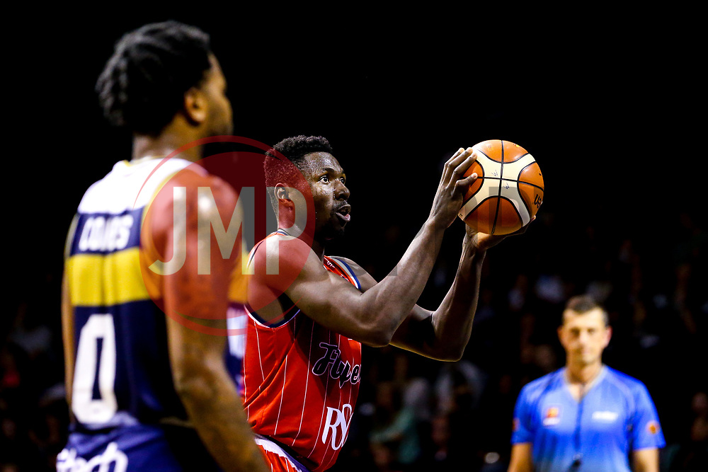 Daniel Edozie of Bristol Flyers - Mandatory by-line: Robbie Stephenson/JMP - 05/10/2018 - BASKETBALL - University of Worcester Arena - Worcester, England - Bristol Flyers v Worcester Wolves - British Basketball League