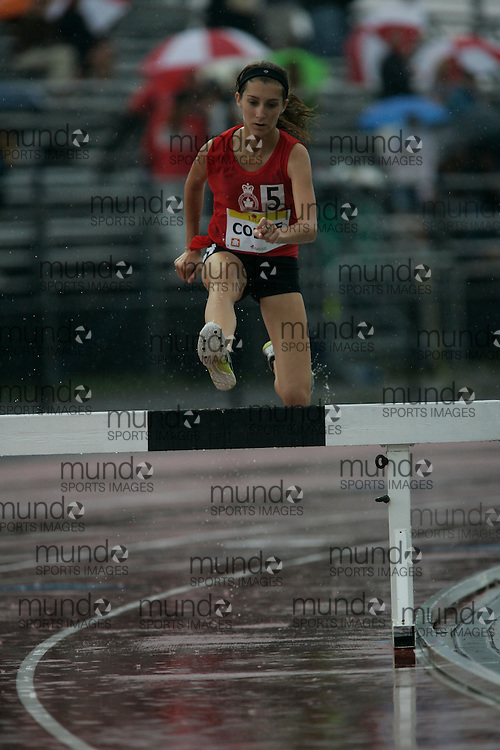 Ottawa, Ontario ---10-08-08--- CoDyre competes in the steeplechase at the 2010 Royal Canadian Legion Youth Track and Field Championships in Ottawa, Ontario August 8, 2010..GEOFF ROBINS/Mundo Sport Images.
