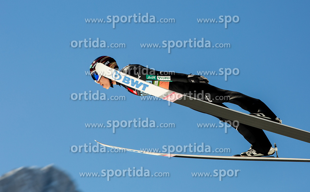 Ryoyu Kobayashi (JPN) soaring through the air during the Ski Flying Hill Team Competition at Day 3 of FIS Ski Jumping World Cup Final 2019, on March 23, 2019 in Planica, Slovenia. Photo by Masa Kraljic / Sportida