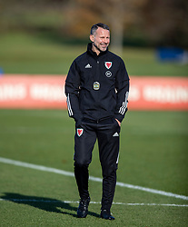 CARDIFF, WALES - Monday, November 18, 2019: Wales' manager Ryan Giggs during a training session at the Vale Resort ahead of the final UEFA Euro 2020 Qualifying Group E match against Hungary. (Pic by David Rawcliffe/Propaganda)