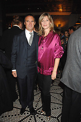 A A GILL and NICOLA FORMBY at a party to celebrate the publication of Table Talk by A  A Gill held at Luciano, 72-73 St.James's, London on 22nd October 2007.<br />