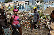 Port-au-Prince, Haiti.<br />Main cemetary of Port-au-Prince. Haiti, the western hemisphere's poorest country. Streets are strewn with garbage in this city where little works and power outages the norm not the exception.