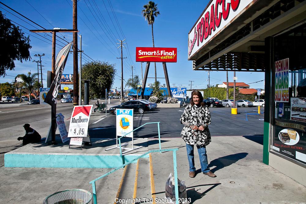 Russell, a homeless man sitting at a Smart and Final grocery store on Lincoln Blvd. in Venice.