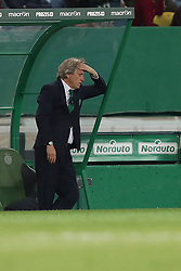 April 18, 2018 - Lisbon, Portugal - Sporting's head coach Jorge Jesus from Portugal reacts during the Portugal Cup semifinal second leg football match Sporting CP vs FC Porto at the Alvalade stadium in Lisbon on April 18, 2018. (Credit Image: © Pedro Fiuza/NurPhoto via ZUMA Press)
