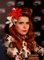 Paloma Faith speaking to reporters at the launch of Arthur's Day 2011. Pic Andres Poveda CPR