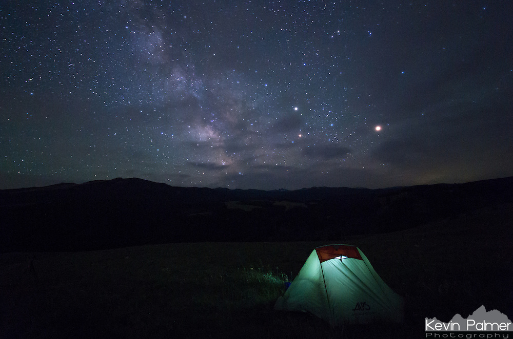 It was July 4th weekend, and most of the campgrounds in the Bighorn Mountains were full. But I didn't mind because I found a dispersed campsite instead with an amazing view of the milky way.