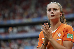 July 7, 2019 - Lyon, France - Lieke Martens (FC Barcelona) of Netherlands  dejected after the 2019 FIFA Women's World Cup France Final match between The United State of America and The Netherlands at Stade de Lyon on July 7, 2019 in Lyon, France. (Credit Image: © Jose Breton/NurPhoto via ZUMA Press)