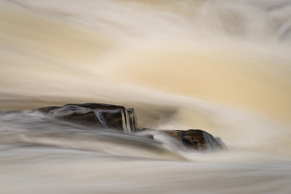 Metamorphic rock and rushing water abstract from the Great Falls of the Potomac, Great Falls National Park, VA
