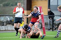 Clara Nielson of Bristol Bears Women scores a try- Mandatory by-line: Nizaam Jones/JMP - 23/03/2019 - RUGBY - Shaftesbury Park - Bristol, England - Bristol Bears Women v Richmond Women- Tyrrells Premier 15s
