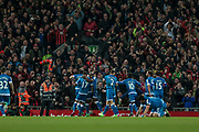 AFC Bournemouth score an equaliser in the final seconds of the game to make it 2-2 during the Premier League match between Liverpool and Bournemouth at Anfield, Liverpool, England on 5 April 2017. Photo by Mark P Doherty.