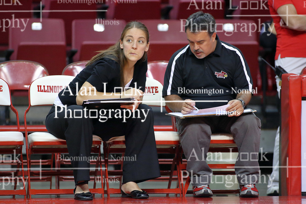 29 AUG 2009: Coach Melissa Myers and Assistant Coach Adriano de Souza. The Redbirds of Illinois State were defeated by the Golden Eagles of Oral Roberts in 4 sets during play in the Redbird Classic on Doug Collins Court inside Redbird Arena in Normal Illinois