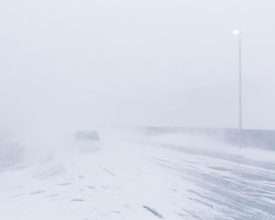 Snow Blizzard in Reykjavik march 6th 2013