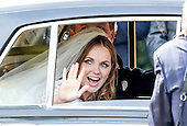 Gerri Halliwell Christian Horner Wedding Departure