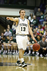 29 January 2011: Travis Rosenkranz during an NCAA basketball game between the Carthage Reds and the Illinois Wesleyan Titans at Shirk Center in Bloomington Illinois.