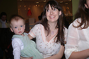 Sasha and  Caroline Young,  Launch of 'Lucy  Sykes Baby, New York' Selfridges. 14 April 2005. ONE TIME USE ONLY - DO NOT ARCHIVE  © Copyright Photograph by Dafydd Jones 66 Stockwell Park Rd. London SW9 0DA Tel 020 7733 0108 www.dafjones.com