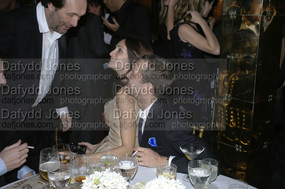 David Macmillan, Astrid Munoz and Dan Macmillan,  Charles Finch and Chanel 7th Anniversary Pre-Bafta party to celebratew A Great Year of Film and Fashiont at Annabel's. Berkeley Sq. London W1. 10 February 2007. -DO NOT ARCHIVE-© Copyright Photograph by Dafydd Jones. 248 Clapham Rd. London SW9 0PZ. Tel 0207 820 0771. www.dafjones.com.