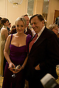 BARRY HUMPHRIES AND J.K. ROWLING, The Galaxy British Book Awards hosted by Richard Madeley and Judy Finigan. Grosvenor House. Park Lane. London. 9 April 2008. *** Local Caption *** -DO NOT ARCHIVE-© Copyright Photograph by Dafydd Jones. 248 Clapham Rd. London SW9 0PZ. Tel 0207 820 0771. www.dafjones.com.