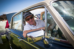 © Licensed to London News Pictures. 07/08/2016. Leeds UK. Picture shows Alan Garforth in his 1979 Rolls Royce Silver Shadow Landaulette at the 37th Rolls Royce North rally that has taken place this weekend in the ground's of Harewood House in Yorkshire. The event bring's together some of the UK's most prized motor cars & their proud owners. Photo credit: Andrew McCaren/LNP