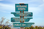 Rosaire Steps signpost, Island of Herm, Channel Islands, Great Britain