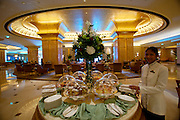 Emirates Palace Hotel. 7 Star luxury, state-owned and managed by Kempinski. Al Majlis Lounge.