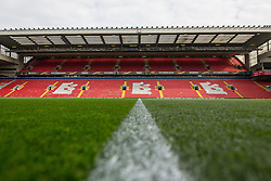 14.04.2016, Anfield Road, Liverpool, ENG, UEFA EL, FC Liverpool vs Borussia Dortmund, Viertelfinale, Rueckspiel, im Bild Tribuene von Anfield Stadium // during the UEFA Europa League Quaterfinal, 2nd Leg match between FC Liverpool vs Borussia Dortmund at the Anfield Road in Liverpool, Great Britain on 2016/04/14. EXPA Pictures &copy; 2016, PhotoCredit: EXPA/ Eibner-Pressefoto/ Schueler<br /> <br /> *****ATTENTION - OUT of GER*****