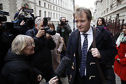 © Licensed to London News Pictures. 15/11/2017. London, UK. Richard Ratcliffe talks to reporters as he leaves the Foreign Office after meeting with Boris Johnson. Mr Ratcliffe's wife, Nazanin Zaghari-Ratcliffe, is currently serving a five-year prison sentence after being arrested at Tehran airport in April 2016 as she attempted to return home from a visit to see her family. Her sentence may be increased after Foreign Secretary Boris Johnson mistakenly said she was in Iran to train journalists. Photo credit: Peter Macdiarmid/LNP