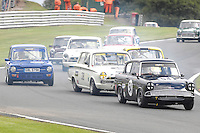 HSCC Gold Cup Oulton Park, Cheshire, United Kingdom.  28th-29th August 2011.  Race 11 HSCC ByBox Historic Touring Cars.  54 Neil Wood - Ford Anglia 105E. World Copyright: Peter Taylor/PSP. Copy of publication required for printed pictures. Every used picture is fee-liable.