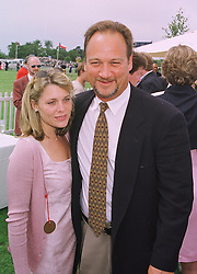 MR & MRS JIM BELUSHI he is the actor, at a polo match in Berkshire on 26th July 1998.MJG 61