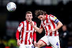 Joe Allen of Stoke City heads the ball - Mandatory by-line: Robbie Stephenson/JMP - 31/01/2020 - FOOTBALL - Pride Park Stadium - Derby, England - Derby County v Stoke City - Sky Bet Championship