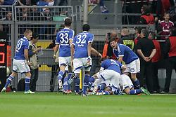 20-10-2012 VOETBAL: BORUSSI DORTMUND - FC SCHALKE 04: DORTMUND<br /> Vreugde bij Schalke 04 als zij op 2-0 komen, rechts Huntelaar<br /> ***NETHERLANDS ONLY***<br /> ©2012-FotoHoogendoorn.nl/Oliver Vogler