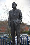 Sir Alf Ramsey statue, Portman Road, Ipswich Town Football club, Ipswich, Suffolk, England