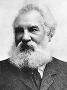 Alexander Graham Bell (1847-1922) Scottish-born American inventor; patented telephone 1876. Picture published 1907