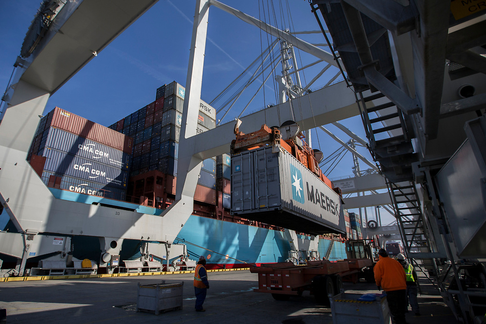 02/20/2015: SAVANNAH, GA: <br /> <br /> at the Georgia Ports Authority Port of Savannah, Friday, Feb. 20, 2015, in Savannah, Ga. (Stephen B. Morton for The New York Times)