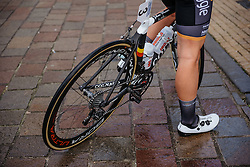 Jolien D'hoore back from the track and racing on the road in Europe again - Dwars door Vlaanderen 2016, a 103km road race from Tielt to Waregem, on March 23rd, 2016 in Flanders, Netherlands.