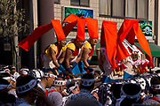 Drummers in the Tenjin Festival (Tenjin Matsuri) in Osaka.