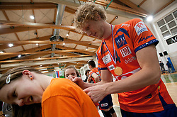Kay van Dijk of ACH after the volleyball match between ACH Volley Bled and UKO Kropa at final of Slovenian National Championships 2011, on April 27, 2011 in Arena SGTS Radovljica, Slovenia. ACH Volley defeated Kropa 3-0 and became Slovenian National Champion 2011. (Photo By Vid Ponikvar / Sportida.com)