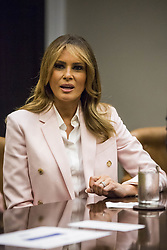 U.S. First Lady Melania Trump speaks during an opioid round table at the White House in Washington, DC, USA, 12 June 2019. Photo by Zach Gibson/Pool/ABACAPRESS.COM