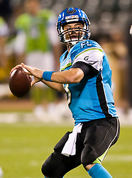November 19, 2009; San Francisco, CA, USA;  Florida Tuskers quarterback Brooks Bollinger (8) during the first quarter against the California Redwoods at AT&T Park.