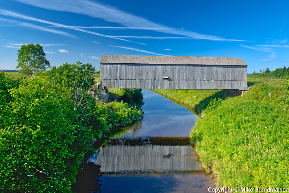 Sawmill Creek #1 Covered bridge across Sawmill Creek<br />