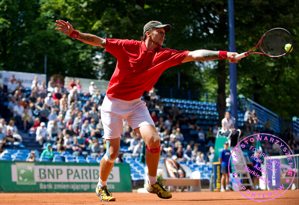 NIKOLA CIRIC (SERBIA) DURING DAY 6 OF THE MEN'S SINGLES TOURNAMENT BNP PARIBAS POLISH OPEN AT TENNIS CLUB IN SOPOT, POLAND...POLAND, SOPOT , JULY 16, 2011..( PHOTO BY ADAM NURKIEWICZ / MEDIASPORT )..PICTURE ALSO AVAIBLE IN RAW OR TIFF FORMAT ON SPECIAL REQUEST.