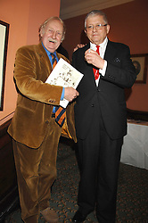 Left to right, TREVOR BAYLIS and DAVID HOCKNEY at the 2008 Oldie of The year Awards and lunch held at Simpsons in The Strand, London on 11th March 2008.<br /><br />NON EXCLUSIVE - WORLD RIGHTS