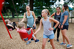 LOUISVILLE, KY, -- Danielle, Gemma along with The Priest Tribe and the Geerts crew visit Carlee at her Cross Country practice, Wednesday, Sept. 05, 2018 at the Seneca Park in LOUISVILLE.