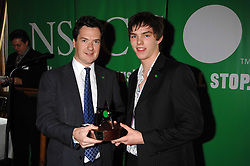 Left to right, GEORGE OSBORNE MP and NICHOLAS HOULT at a reception for the third NSPCC Hall of Fame Awards Ceremony in the Members Dining Room, The House of Commons, London on 15th May 2007.<br />