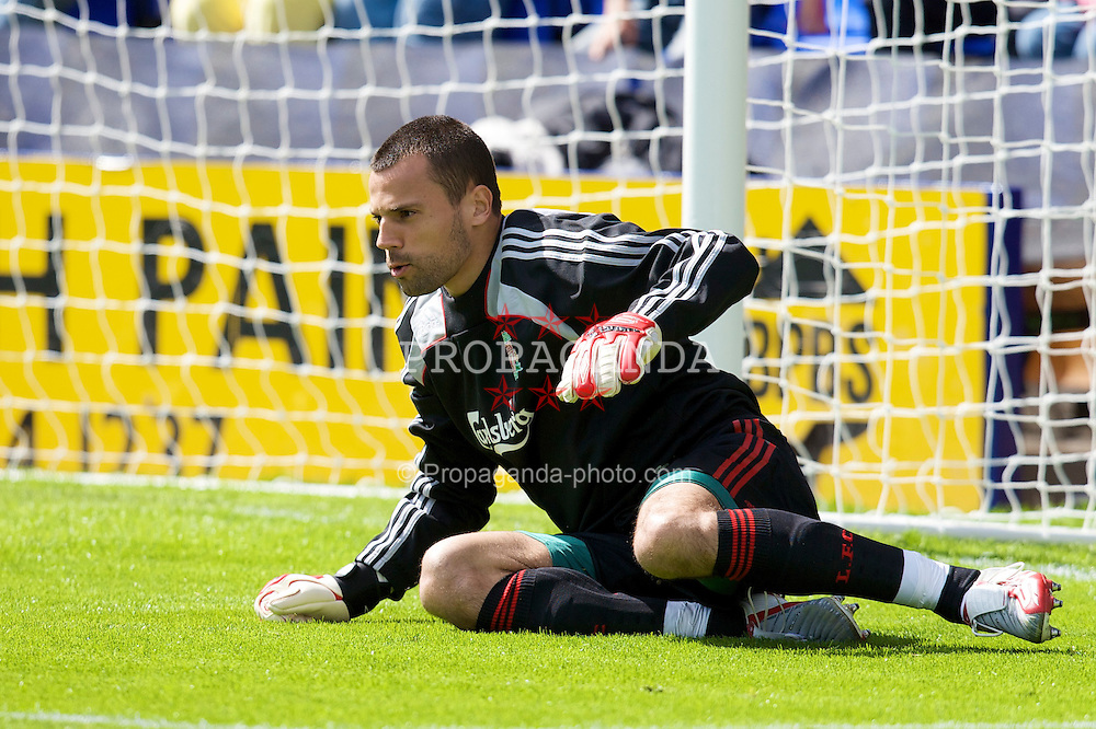 BIRKENHEAD, ENGLAND - Saturday, July 12, 2008: Liverpool's goalkeeper Diego Cavalieri during the first pre-season match of the 2008/2009 season against Tranmere Rovers at Prenton Park. (Photo by David Rawcliffe/Propaganda)