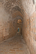 Israel, Western Galilee, Narrow alley the old City of Acre